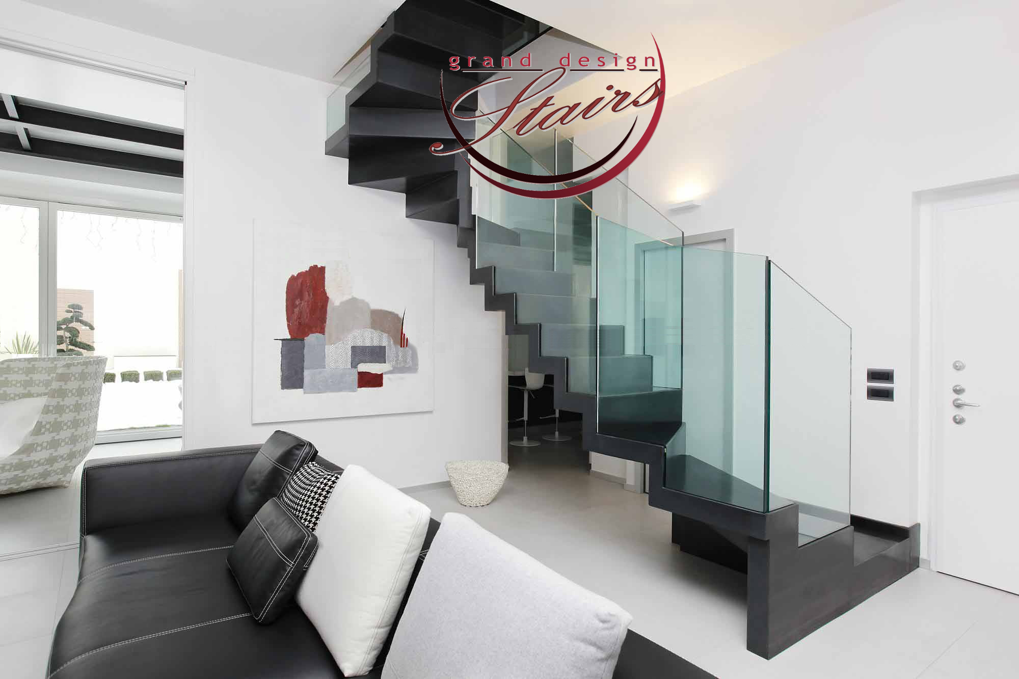 Zig Zag Stairs And Stairways Closed Risers Staircases